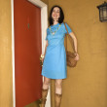 Woman in retro clothing. — Stock Photo