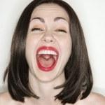 Nude woman screaming. — Stock Photo