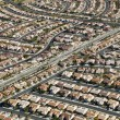 Urban housing sprawl. - Stock Photo