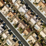 Suburban houses aerial. — Stock Photo #9522303