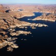 Aerial of Lake Powell. - Stok fotoğraf