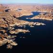 Aerial of Lake Powell. - Stock Photo