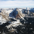 Stock Photo: Rocky Mountain aerial.