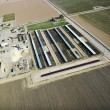 Livestock farm aerial. - Stock Photo