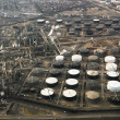 Oil refinery aerial. — Stock Photo