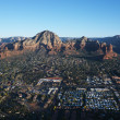 Royalty-Free Stock Photo: Sedona, Arizona aerial.