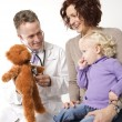 Physician with child. — Stock Photo