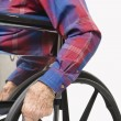 Man in wheelchair. — Stock Photo