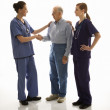 Doctors and patient. — Stock Photo