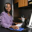 Business woman working. — Stock Photo