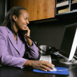 Stock Photo: Businesswoman working.