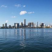 Waterfront skyline, Miami. — Stock Photo