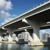 Bridge over Biscayne Bay. — Stock Photo