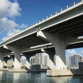 Bridge over Biscayne Bay. — Stock Photo