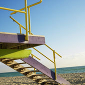Lifeguard tower, Miami, Florida. — Stock Photo