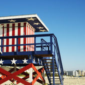 Americana lifeguard tower. — Stock Photo
