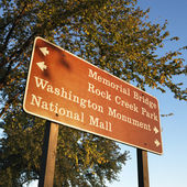 Washington, DC sign. — Stock Photo