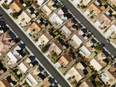 Suburban houses aerial. — Stock Photo