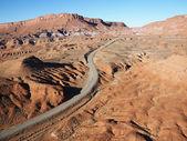 Carretera en el desierto de utah. — Foto de Stock