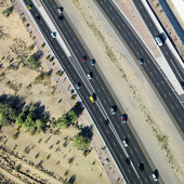 Aerial of highway. — Stock Photo