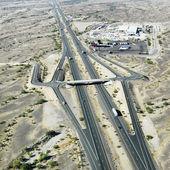 Arizona desert interstate. — Stock Photo