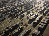 Aerial of cargo containers. — Stock Photo