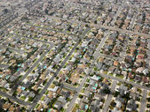 Aerial of urban sprawl. — Stock Photo