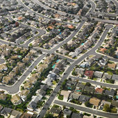 Aerial of suburbia. — Stock Photo