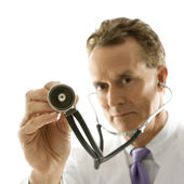 Doctor with stethoscope. — Stock Photo