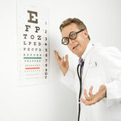 Ophthalmologist doctor. — Stock Photo