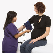 Checking blood pressure. — Stock Photo