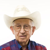 Man in cowboy hat. — Stock Photo