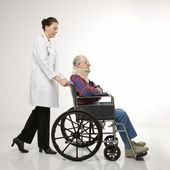 Patient and doctor. — Stock Photo