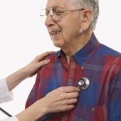 Man having physical exam. — Stock Photo
