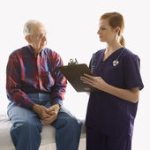 Nurse and patient. — Stock Photo