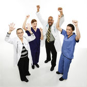 Doctors cheering. — Stock Photo