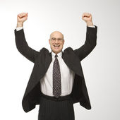 Businessman jumping. — Stock Photo