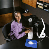 Business woman in office. — Stock Photo
