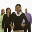 Businesswoman with others. — Stock Photo
