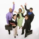 Счастливый бизнесменов — Стоковое фото