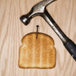 Stock Photo: Toasted bread.