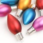 Multicolored Christmas ornaments. — Stock Photo