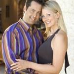 Caucasian couple embracing. — Stock Photo