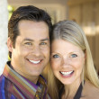 Caucasian couple smiling. — Stock Photo