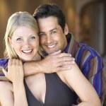 Caucasian couple smiling. — Stock Photo