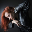 Woman with red hair. — Stock Photo #9531660