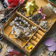 Open jewelry box. - Stock Photo