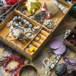 Open jewelry box. — Stock Photo