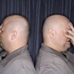 Identical twin men. — Stock Photo