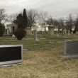 Television in graveyard. — Stock Photo